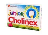 CHOLINEX Junior malina 16 pastylek