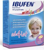 IBUFEN Mini Junior 100 mg 15 kapsułek