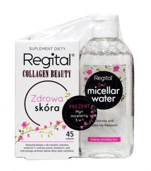 REGITAL COLLAGEN BEAUTY x 45 tabletek + 100 ml PŁYNU MICELANRNEGO